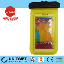 Quality assured mobile phone pvc waterproof bag case for iphone, for apple iphone waterproof case bag cover