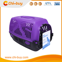 Chi-buy Airline Pet Carrier Designer Plastic Pet Carrier Purple and Black Free Shipping on order 49usd