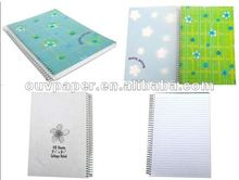 PP cover plastic spiral notebook office supplies
