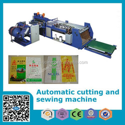 High speed automatic woven bag cutting and sewing machine, Non woven bag cutting and sewing machine, PP woven bag making machine