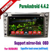 Latest new version android dvd car for subaru outback wifi 3g tv radio IPOD MP3 BT mirror link+1 year warranty TONTEK