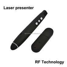 Red laser pointer USB powerpoint presenter RF laser presenter