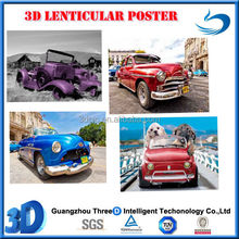 fashion car printing 3D Lenticular posters for advertising