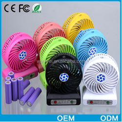 2015Hot Selling 2in1 Palm Size Colourful 2600mAh Portable Power Bank for USB Fan And Light Function
