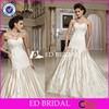 Custom Made Beaded Lace Bodice A Line Appliqued Taffeta Wedding Dresses 2015