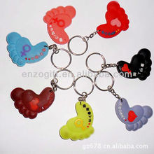 cheap 3D soft PVC keychain, bulk custom made rubber key rings, plastic keychain