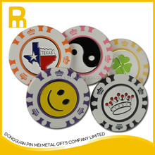 2015 new arrival golf poker chips ball marker and hat clips sets