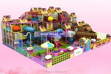 Plastic playground with slide and ball pool indoor playground type