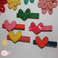 Colorful Heart Acrylic Girl Children Baby Hairpin Hair dress Hair Clip for kids