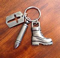 Best selling fashion jewelry 2015 zinc alloy silver plated fake bullet keychain