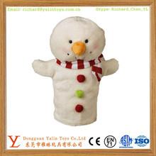 Custom Hand Puppet Christmas Snowman Puppet