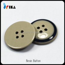 polish resin sew button with black edges for clothes