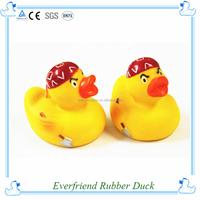 Plastic rubber red cap baby cute eco-friendly bath duck