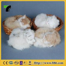 Christmas decoration crafts popular animal model Plush toy Breathing sleeping cat
