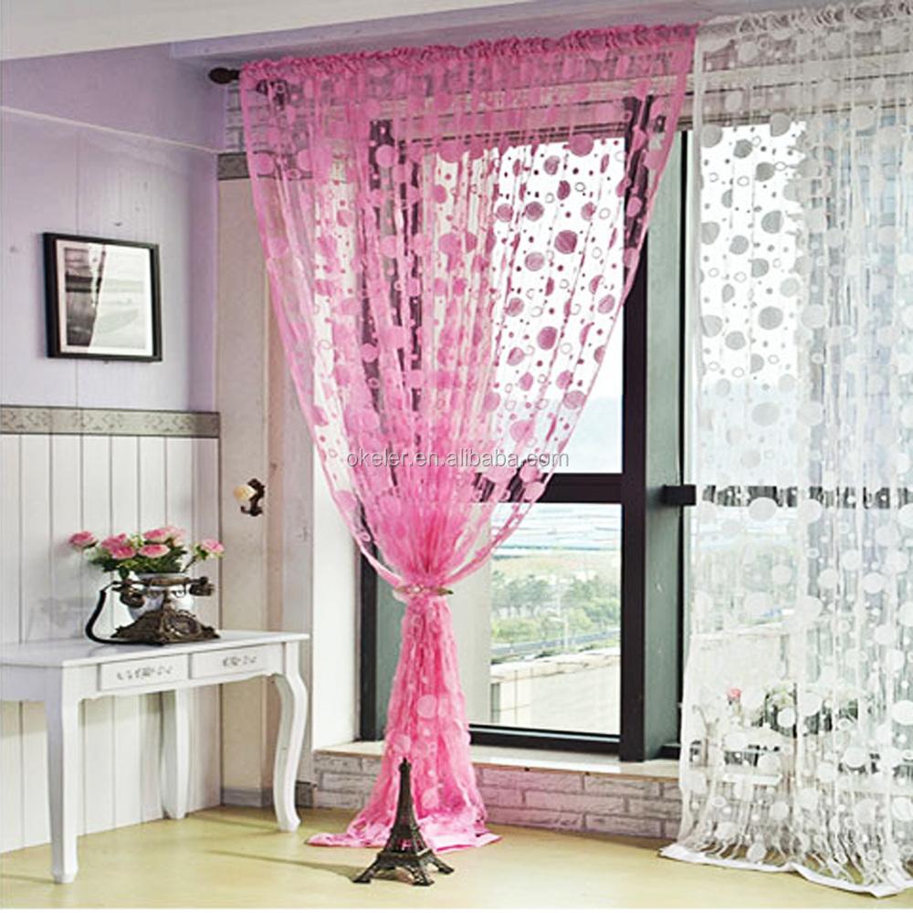 Romantische roze kwastje lijn string gordijn elegante gordijnen ...
