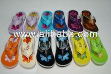 Womens Flip flop Sandals Slippers Floral Design Shoes