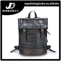 Hot sale camping backpack laptop travel wholesale men leather backpacks