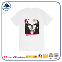 100% Polyester Material 120 gsm white t shirt