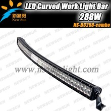 "Super New 50"" 288W Radius Led Light Bar Curved Light Bar,offroad curved led bar lights with bent housing 3D reflector"