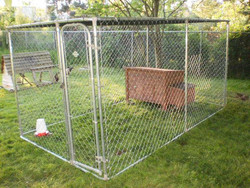 Large outdoor iron fence dog kennel wholesale