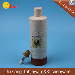 Ceramic cruet soy sauce pot, small oil vinegar bottle