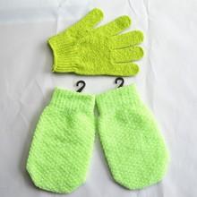 Double sided design men/women general bath rubbing quality gloves.