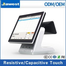 """POS machine 15"""" embedded All-in-One POS Industrial 5 wire Resistive Touchscreen Computer Intel Celeron c1037u 1.86Ghz"""