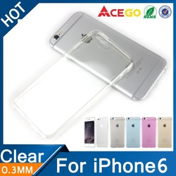 Buy 300 get 50 free transparent soft tpu case for iphone 6 silicone case