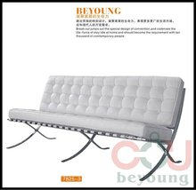 designer style barcelona leather 3 seater sofa stainless steel frame living room sofa