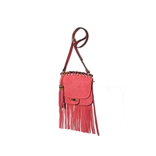 MSE08 Latest national tassel scrub leather woman shoulder bag made in GZ