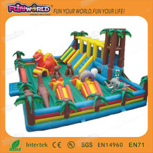 Big outdoor inflatable fun city for rental