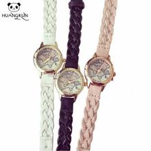 Wholesale colored cute thin leather wrist quartz watches