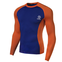 New men's long-sleeved tight slim fast drying breathable wicking outdoor sport long-sleeved T-shirt