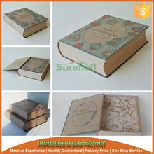 pretty book shape christmas decoration box
