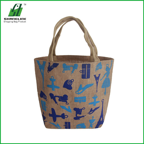 Fashional Small Waterproof Jute Shopping Bag Wholesale