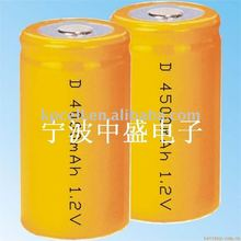 Ni-mh rechargeable battery /D Rechargeble battery 4000 mAh /Nimh battery pack
