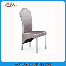 luxury modern leather metal dining room chair furniture