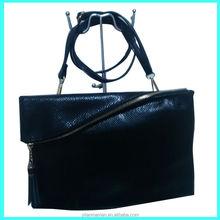 Hot sales black ladies wallet handbag