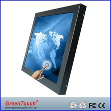 GreenTouch 17 inch Open Frame industrial LCD Monitor VGA/DVI interface, Ultra Slim Touch Open Frame Monitor
