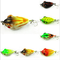 4.01cm 6.01g Frog bait plastic frog lures bionic fishing lures stick bait lure