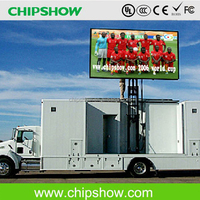 Chipshow P8 outdoor full color led mobile advertising trucks for sale