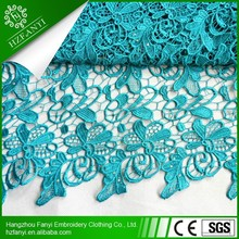 2015 Top quality charming african cord lace/guipure lace fabric with pearls for wedding dress or party FY3039