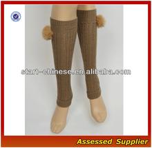 Women Boot Socks/2015 Hot Sale Women Boot Socks With Fashion Fuzzy Balls/ Wholesale Boot Socks QH-N028