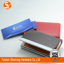 newest girl card wallet good shape leather name card holder with money clip