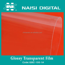 60mic transparent glossy pvc cold lamination film