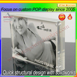 2016 new product photo/sign display acrylic display cases wholesale