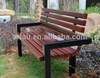 FW35 Outdoor Solid Wood Park Bench with Iron Cast Frame