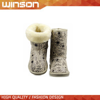 china wholesale beige snow ankle boots for women 2015