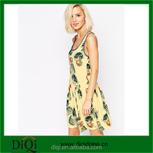 OEM dresses for sale simple style sundress new model casual print dress