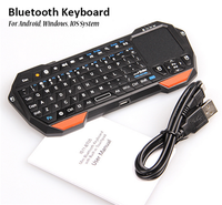 Mini Portable Wireless Bluetooth Keyboard with Multi-Touch Pad Mouse + Backlight + 10m Remote for TV BOX Tablet PC